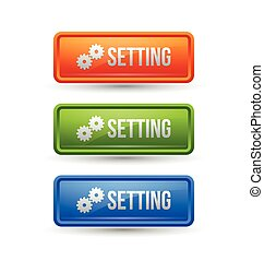 Glossy setting buttons