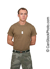 army soldier guy - one fit attractive soldier in a brown...