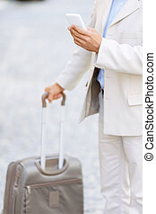 Hansome man holding his travel bag - Modern life Pleasant...