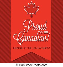 Canada Day sash card in vector format