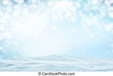 Winter abstract background - Winter background with pile of...