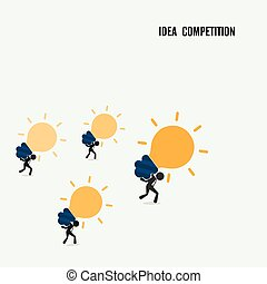 Idea competition idea concept Business cartoon idea...