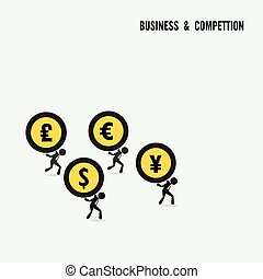 Business competition idea concept Business cartoon idea...