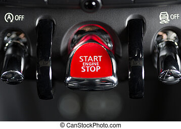 Ignition system - System on and off of a luxury car