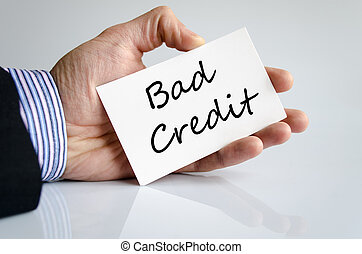 Bad credit text concept isolated over white background