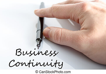 Business continuity text concept isolated over white...