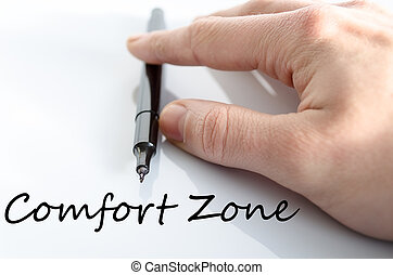 Comfort zone text concept isolated over white background
