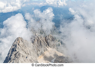 Zugspitze mountain top of Germany - Landscape of Alpine Alps...
