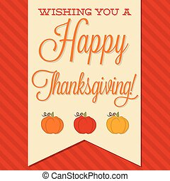 Sash Happy Thanksgiving card in vector format