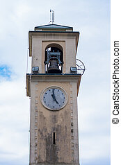 Old bell tower - Church bell tower with clock