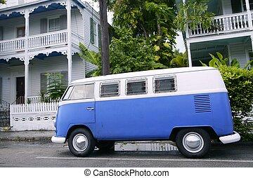 Key West vintage parked van in South Florida