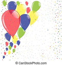 Flyaway Balloons - A colorful collection of balloons with...