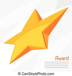 Illustration of gold star award on abstract background