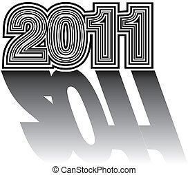 Numerical designation of new 2011 year - Beautiful numerical...