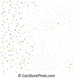 Flyaway Confetti - A background over white of coloired...