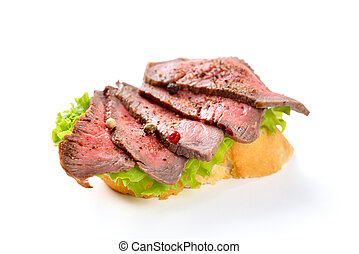 Canape with beef