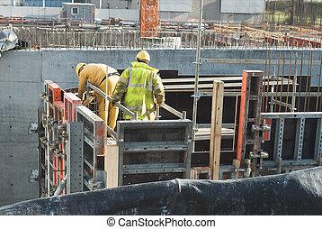 homens, trabalhando