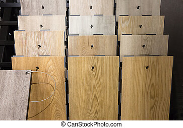 Parquet exposition - Some kind of wood parquet in exposition