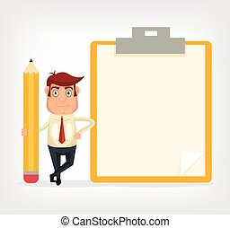 Businessman with a pencil