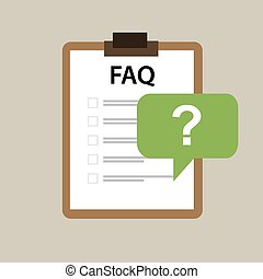 faq frequently asked question icon vector mark paper
