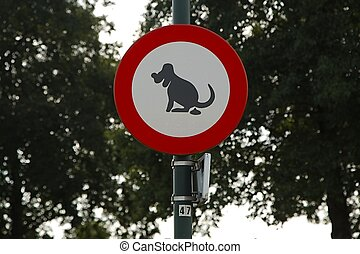 Dogs sign - Signs for dog owners in a park