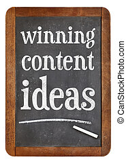 winning content ideas