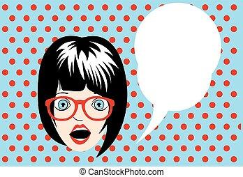 Girl pop art poster
