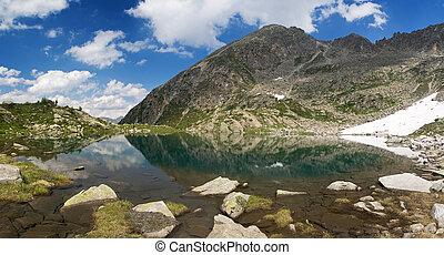 Lago Piccolo, Val di Sole - Summer view of a beautiful small...