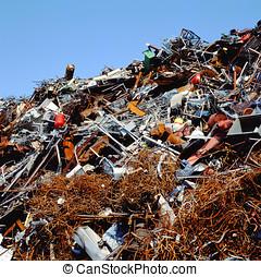 Scrapheap at a scrap metal business