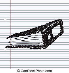 Simple doodle of a ring binder - Simple hand drawn doodle of...
