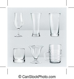Transparent glasses goblets - Set with transparent glasses...
