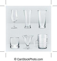 Transparent glasses goblets - Set with transparent glasses...