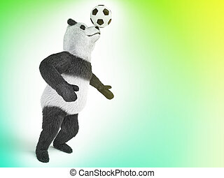 character circus bamboo bear giant panda standing spreading...