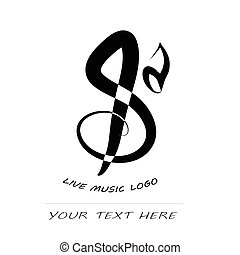 Music vector icon - Music Clef