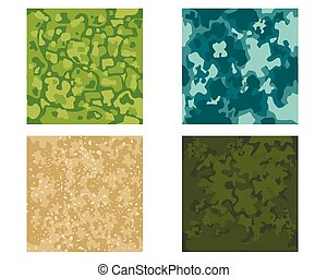 Four camouflage pattern