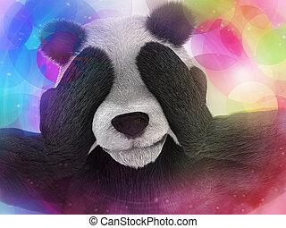 malade, caractère, Panda, bambou, drogué,...
