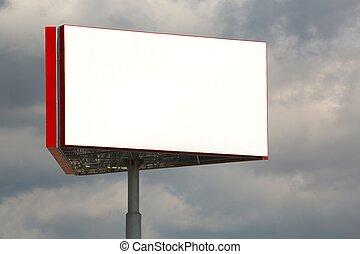 Billboard - Empty billboard sign on a post