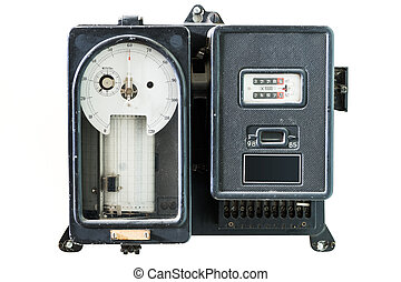 old retro power meter for day and night measurement