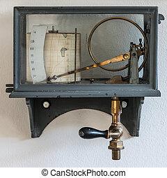 viejo, Retro, higrómetro, tiempo, estación,...