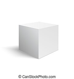 Wight 3D cube made in vector
