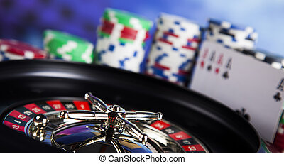 Casino Roulette and Poker Chips - Casino roulette and...