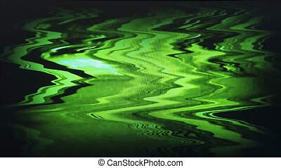 Green interlaced tv static noise - Green interlaced tv...