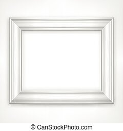 White frame - Picture white wooden frame isolated on white,...