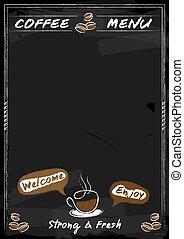 Coffee menu chalkboard style