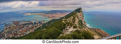 Panorama of Rock of Gibraltar