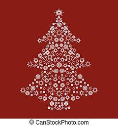 Christmas tree snow pattern