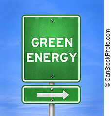 Green Energy - Road sign
