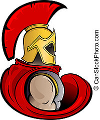Trojan Warrior  - Vector illustration of a Trojan Warrior