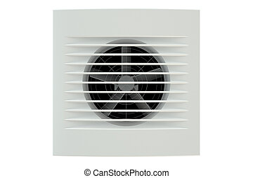 Extractor Fan, Ventilation Grille isolated on white...