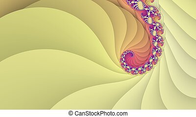 Yellow spiral background - Digitally generated spiral...